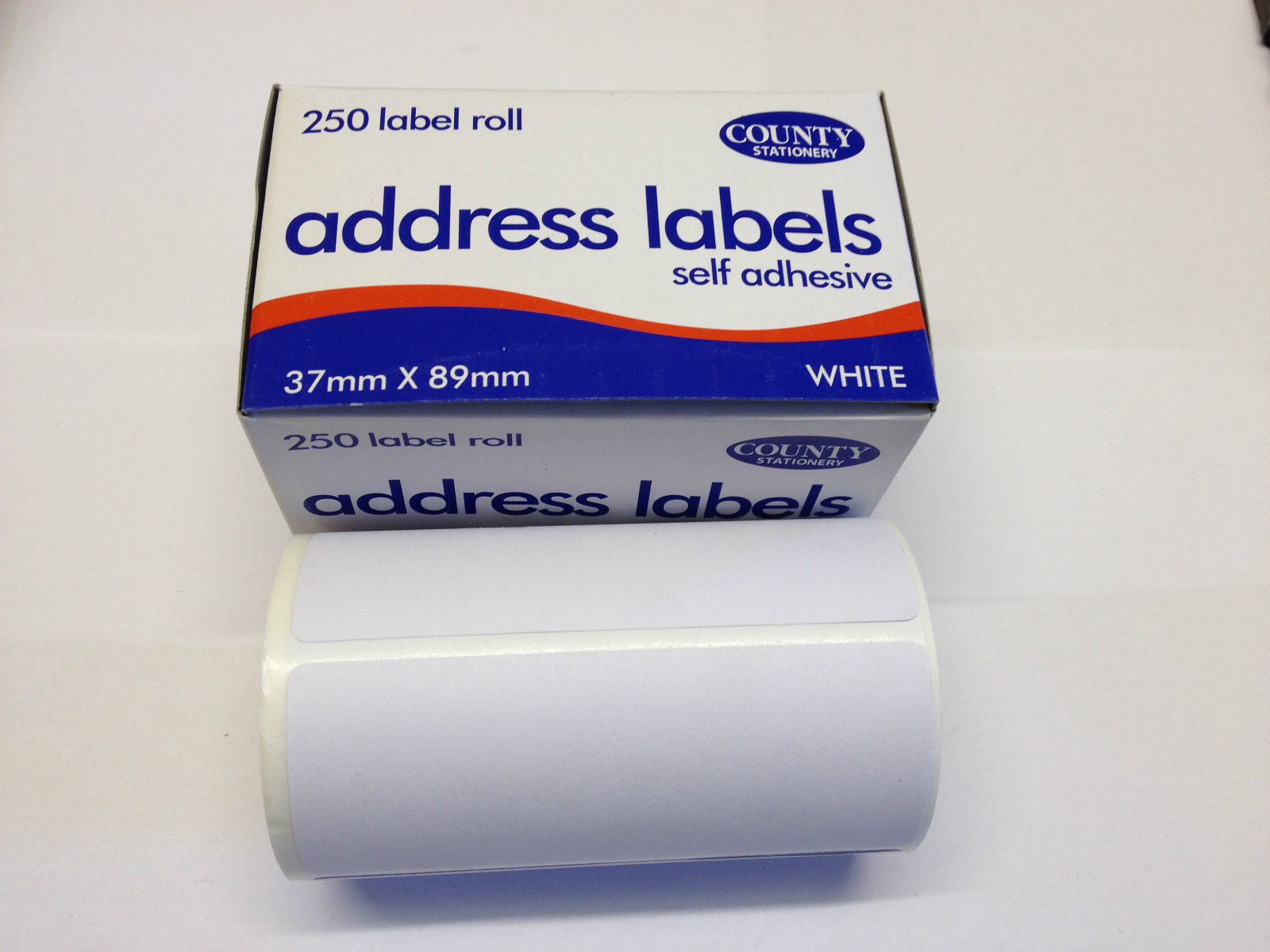 250 self adhesive white address labels postage label roll sticky
